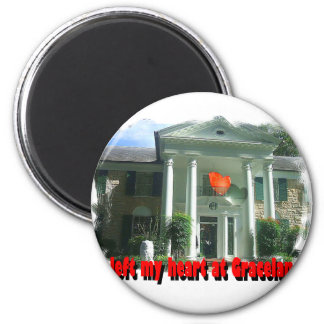 I Left My Heart At Graceland 6 Cm Round Magnet