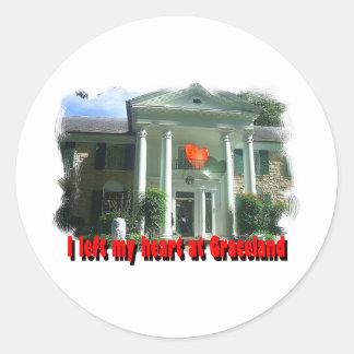 I Left My Heart At Graceland Round Sticker