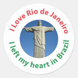 I Left My Heart in Brazil - I Love Rio de Janeiro Classic Round Sticker