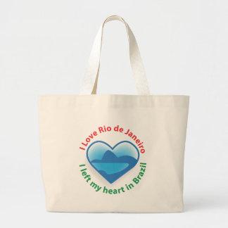 I Left My Heart in Brazil - I Love Rio de Janeiro Jumbo Tote Bag