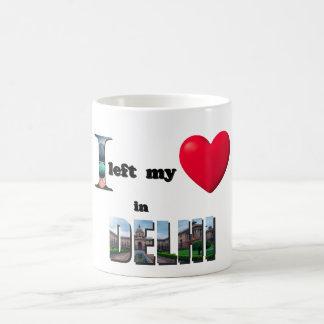 I left my heart in Delhi -Love Gift Couple Cup Mug