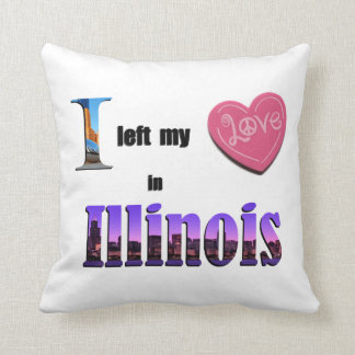 I left my heart in Illinois - Love Gift Pillow Throw Cushion