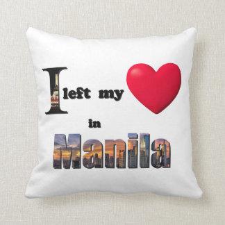 I left my heart in Manila -Love Gift Couple Pillow