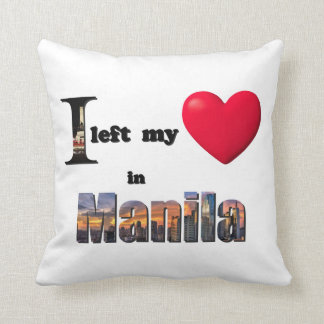 I left my heart in Manila -Love Gift Couple Pillow Throw Cushions