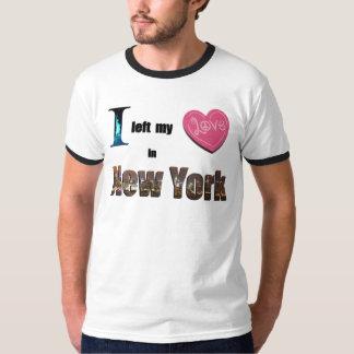 I left my heart in New York- Love Memorabilia Gift T-Shirt