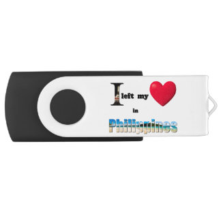 I left my heart in Philippines-Love Gift USB Drive Swivel USB 2.0 Flash Drive