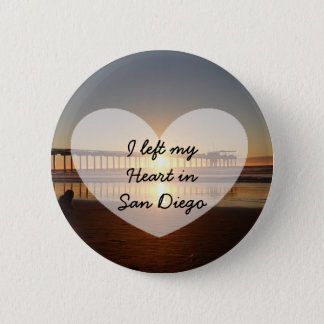 I Left my Heart in San Diego California Button