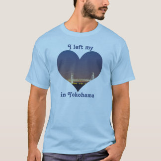 I Left My Heart in Yokohama Bay Bridge Night Scene T-Shirt