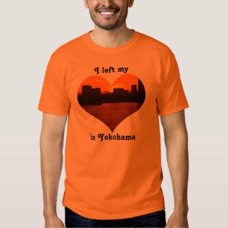 I Left My Heart in Yokohama Urban Sunset Mt Fuji Tee Shirts