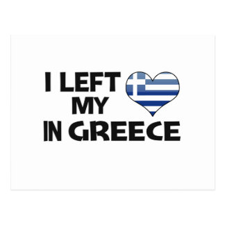 I left my love in Greece. Postcard
