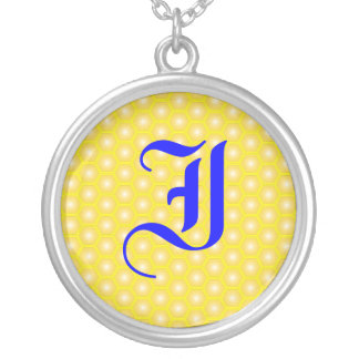 I LETTER ON HONEYCOMB NECKLACES