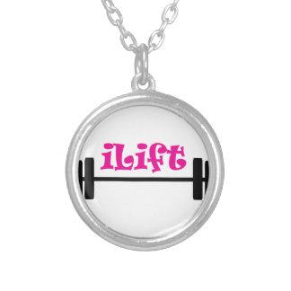 I Lift Round Pendant Necklace