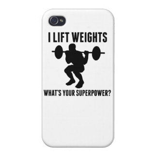 I Lift Weights What's Your Superpower? iPhone 4/4S Covers