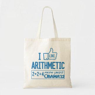 I Like Arithmetic - Pro-Obama Tote Bag