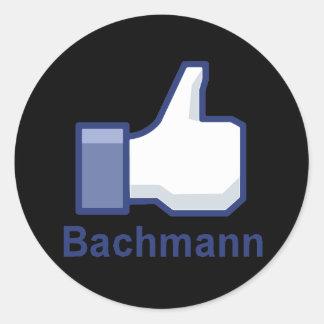 I LIKE BACHMANN15 ROUND STICKER
