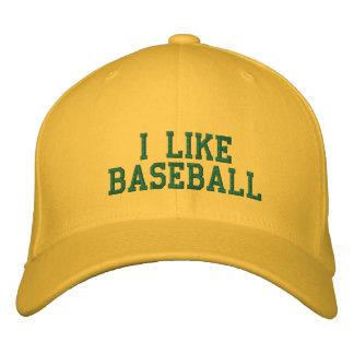 i like baseball embroidered hats