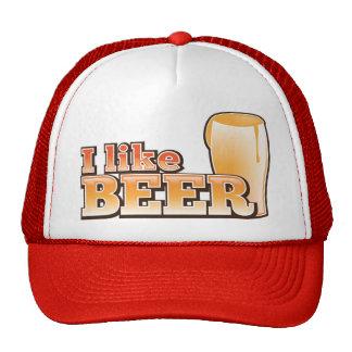 I LIKE BEER alcohol drink design Cap