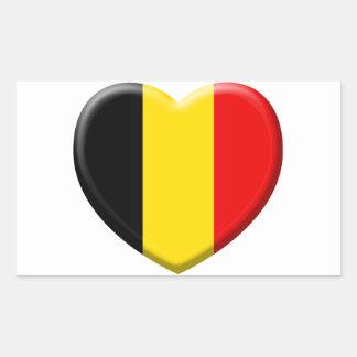 I like Belgium Rectangular Sticker