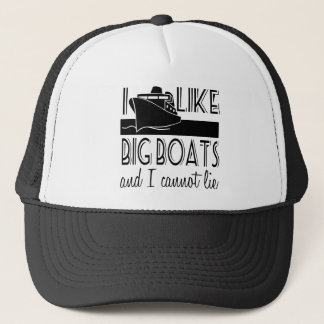 I Like Big Boats Cruise Trucker Hat