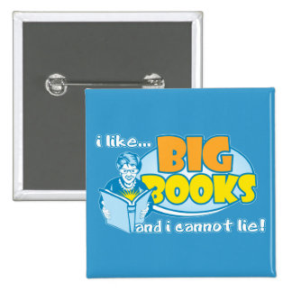 I Like Big Books 15 Cm Square Badge
