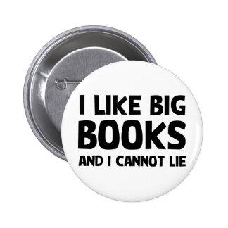 I Like Big Books 6 Cm Round Badge