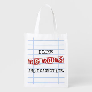 I Like Big Books and I Cannot Lie Funny Library Reusable Grocery Bag