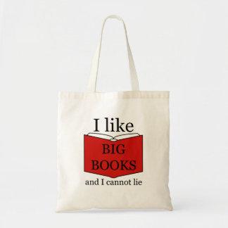 I Like Big Books bookworm Tote Bag