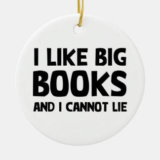 I Like Big Books Christmas Ornament