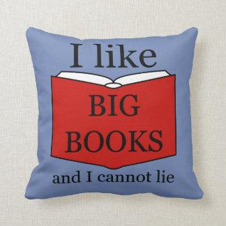 I Like Big Books Cushion