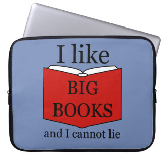 I Like Big Books Laptop Sleeve