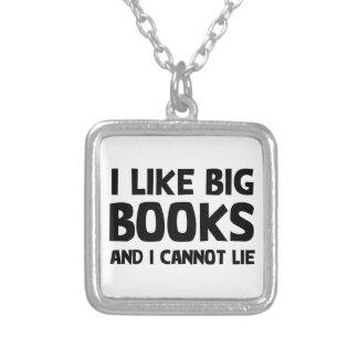 I Like Big Books Square Pendant Necklace