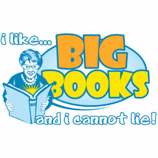 I Like Big Books Standing Photo Sculpture