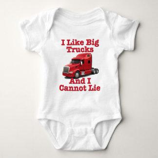 I Like Big Trucks And I Cannot Lie Peterbilt Baby Bodysuit