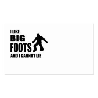 I Like Bigfoots and I Cannot Lie Business Card Templates