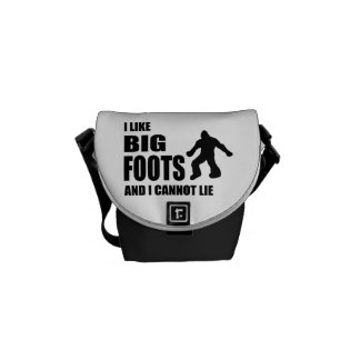 I Like Bigfoots and I Cannot Lie Courier Bags