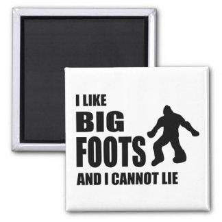 I Like Bigfoots and I Cannot Lie Square Magnet