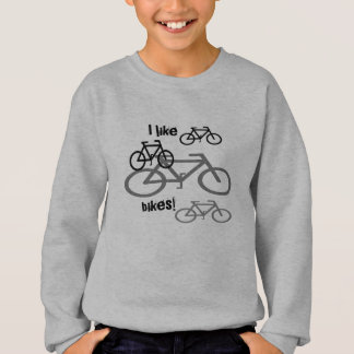 I like bikes Crew Neck Sweatshirt