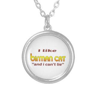 I Like Birman Cat Round Pendant Necklace