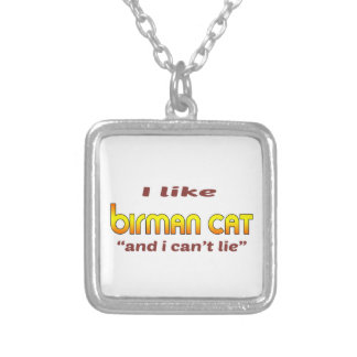 I Like Birman Cat Square Pendant Necklace