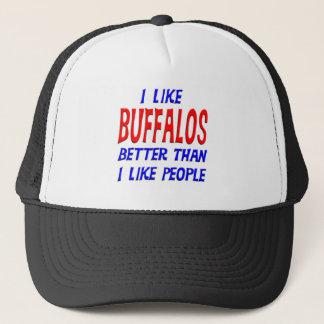 I Like Buffalos Better Than I Like People Hat