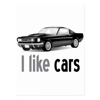 I like cars postcards