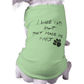 i like cats sleeveless dog shirt