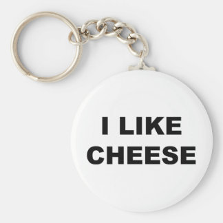 I Like Cheese Basic Round Button Key Ring