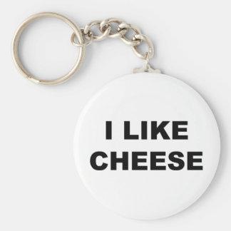 I Like Cheese Key Ring