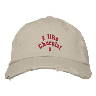 I like chocolate embroidered hat