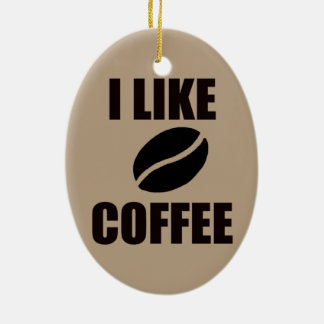 I like coffee christmas ornament