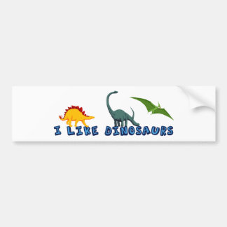 I Like Dinosaurs Bumper Sticker