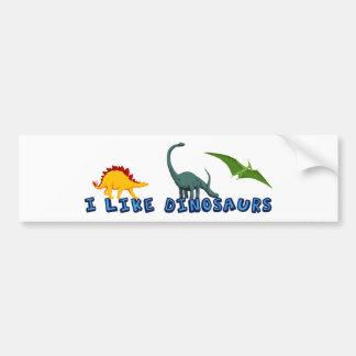 I Like Dinosaurs Car Bumper Sticker