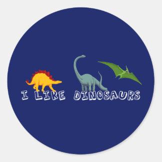 I Like Dinosaurs Stickers