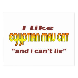 I Like Egyptian Mau Cat Postcard